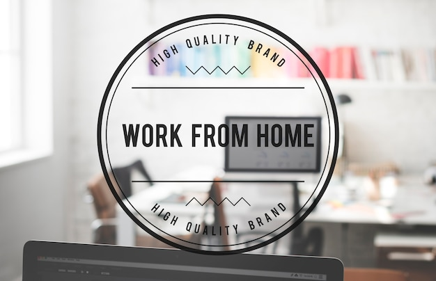 Trabajar desde casa interior de la casa oficina concepto busienss