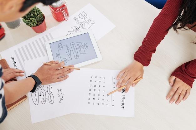 Trabajo de planificación de los millennials