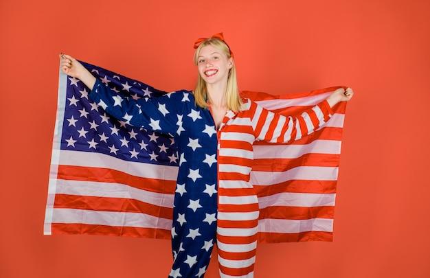 Traje patriótico bandera de los estados unidos de américa bandera americana colores nacionales estados unidos bandera de estados unidos americana