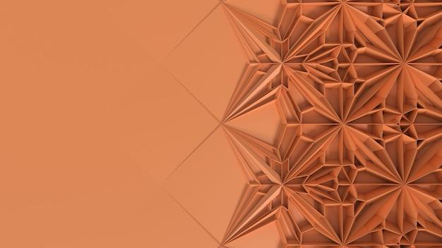 Transformación de caleidoscopio geométrico abstracto 3d. distorsión fractal de la superficie. ilustración de render 3d