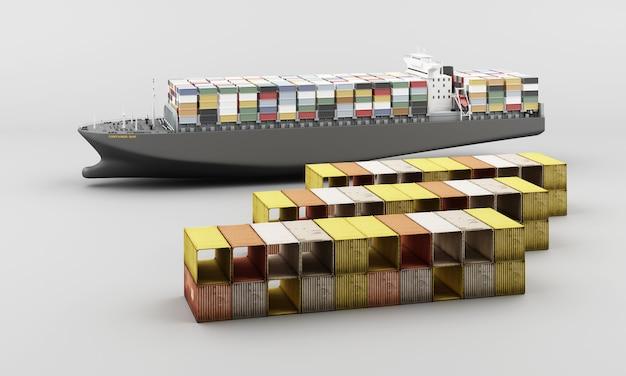 Transporte mundial de contenedores de carga