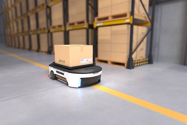 Transporte de robots autónomos en almacenes