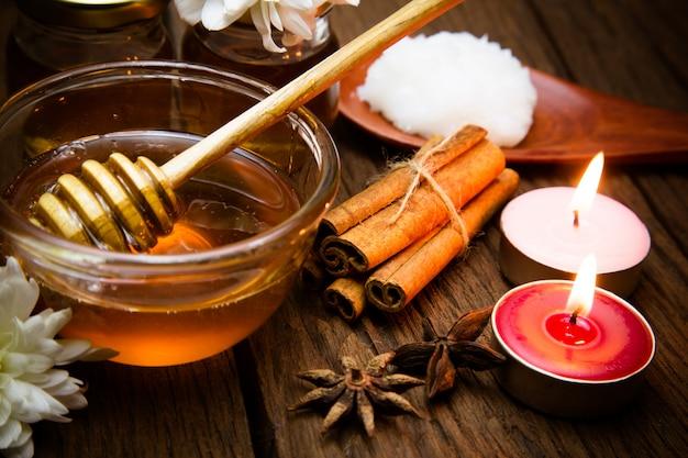 Tratamiento de miel y spa