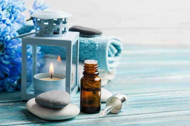Tratamiento de spa con aceites esenciales