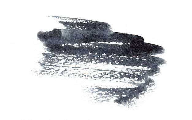 Trazo de pincel aislado sobre fondo blanco.