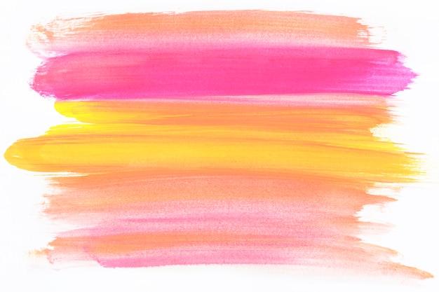 Trazo de pincel de colores mezclados
