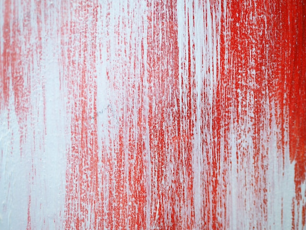 Trazo de pincel pintura al óleo rojo colorido