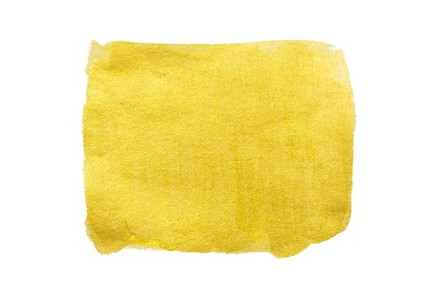 Trazo de pincel de pintura dorada. ilustración de arte con textura brillante oro abstracto.