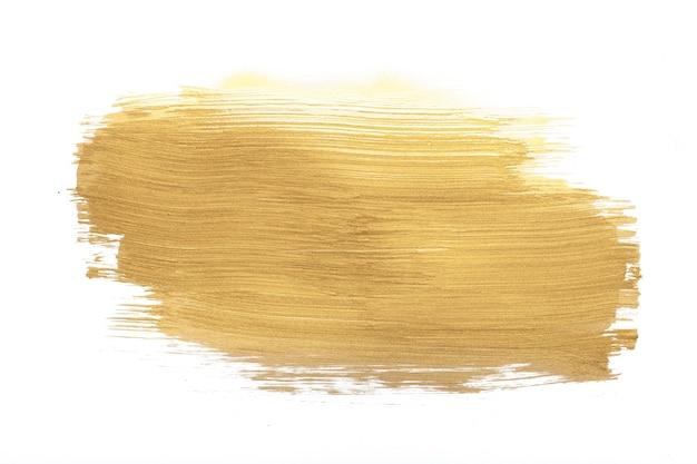 Trazo de pintura dorada
