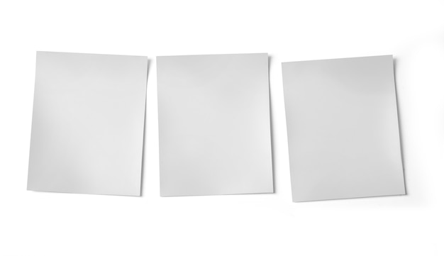 Tres marcos de fotos en blanco