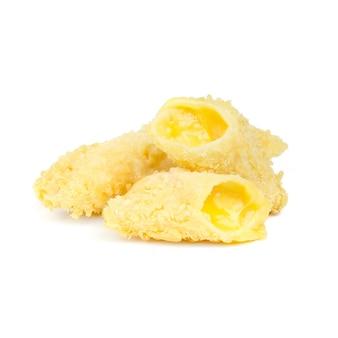 Tres palitos de queso profundos
