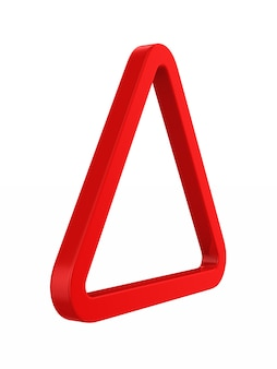 Triángulo rojo. representación 3d aislada