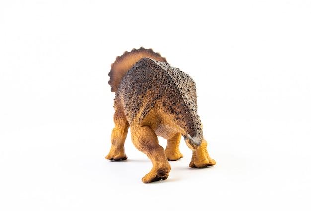 Triceratops, dinosaurio aislado.