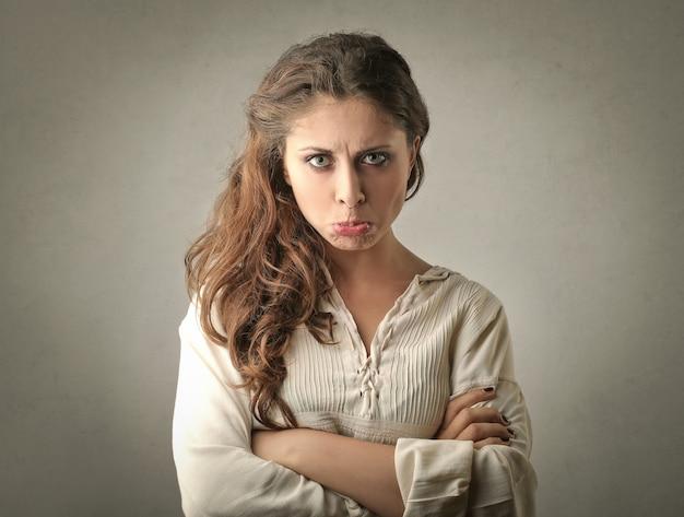 Triste mujer infeliz