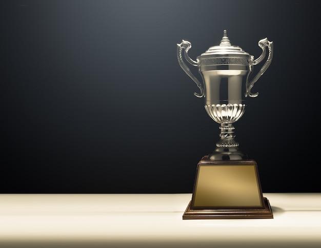 Trofeo moderno con fundamento negro