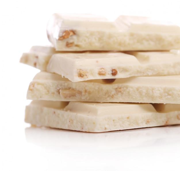 Trozos de chocolate blanco