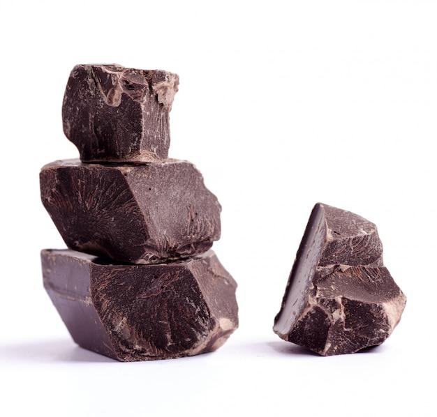 Trozos de chocolate rotos
