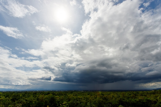 Trueno tormenta cielo lluvia nubes