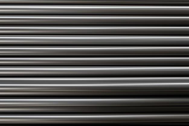 Tubo de metal negro tipo acero apilado