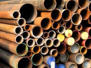 Tubos de acero oxidado