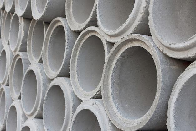 Tubos de cemento para el sistema de agua de construcción.
