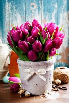 Tulipanes de primavera