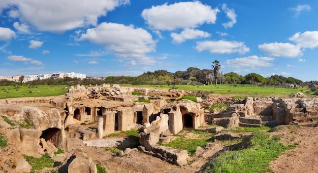 Tumbas de los reyes, museo arqueológico en la ciudad de paphos, chipre