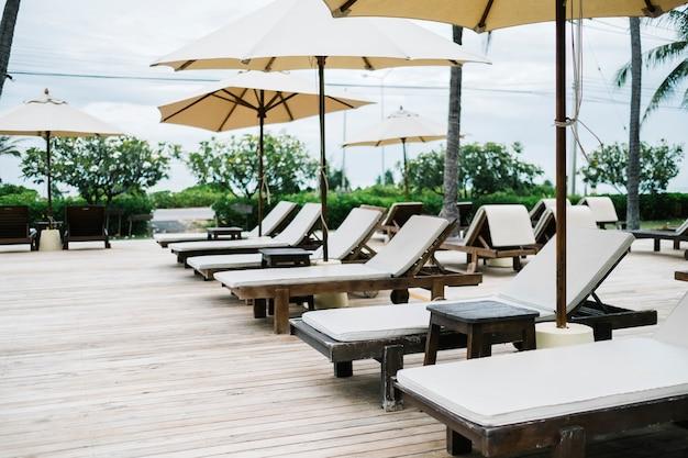 Tumbona en el resort
