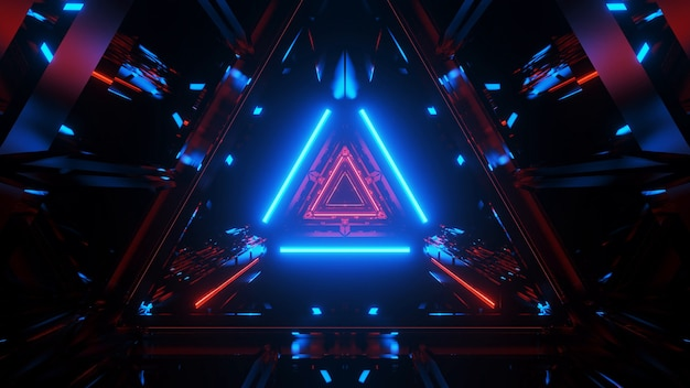 Túnel que brilla intensamente abstracto