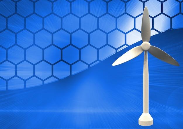 Turbina de metal de la electricidad digital azul