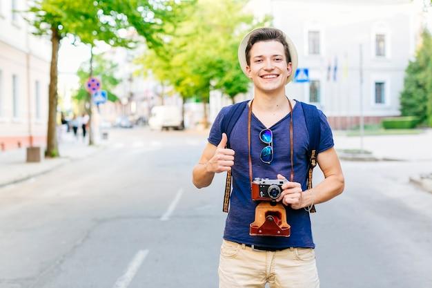 Turista en calle