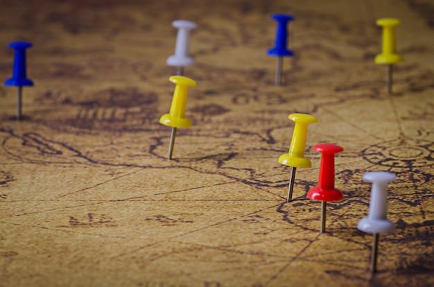 Ubicación marcada en el mapa antiguo