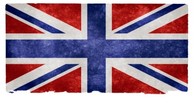 Uk flag grunge invertido