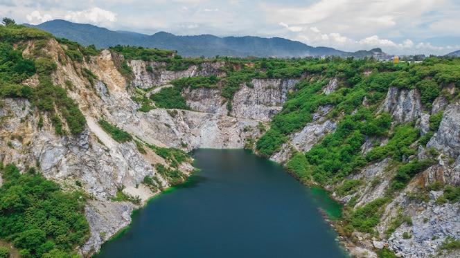 Una vista aérea del gran cañón chonburi tailandia