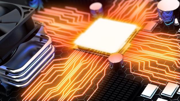 Unidad de procesador central en placa base