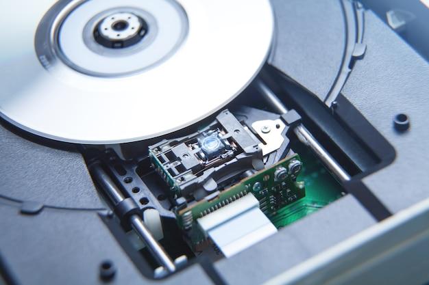 Unidad de reproductor de dvd lente láser primer plano