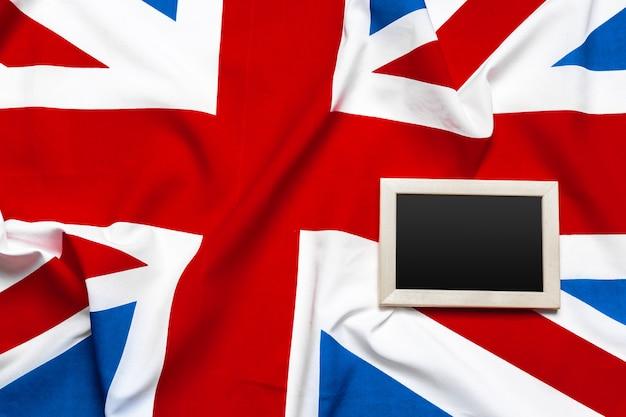 Union jack bandera y portapapeles