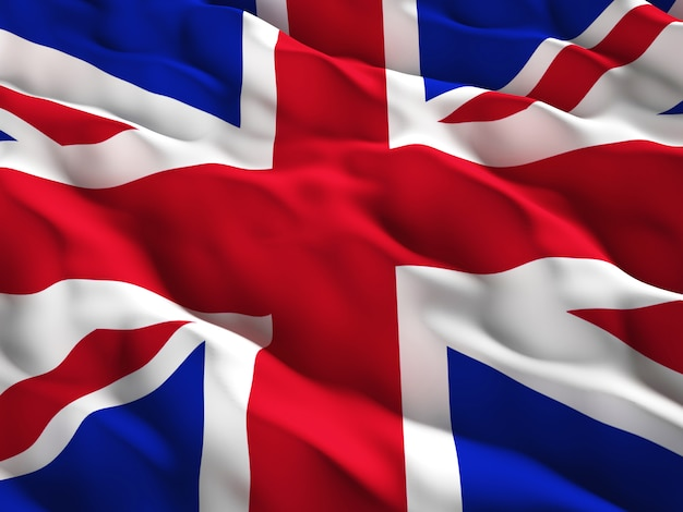 Union jack detalle de la bandera de gran bretaña