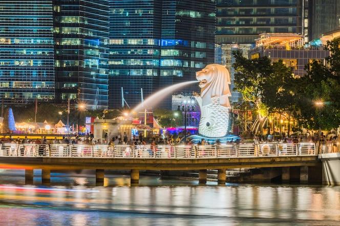 Uno de los iconos de singapur ubicado en marina bay