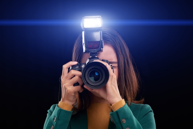 Usando el flash de la cámara