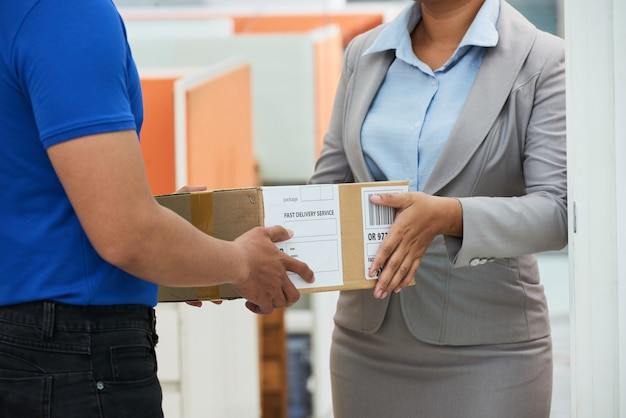 Usando el servicio de entrega rápida