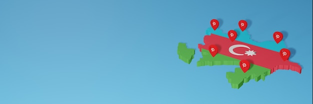 Uso de pinterest en azerbaiyán para las necesidades de la televisión en las redes sociales y la portada de fondo del sitio web