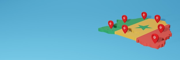 Uso de pinterest en senegal para cubrir las necesidades de la televisión en las redes sociales y la portada del fondo del sitio web