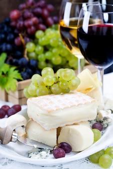 Uva, vino y queso