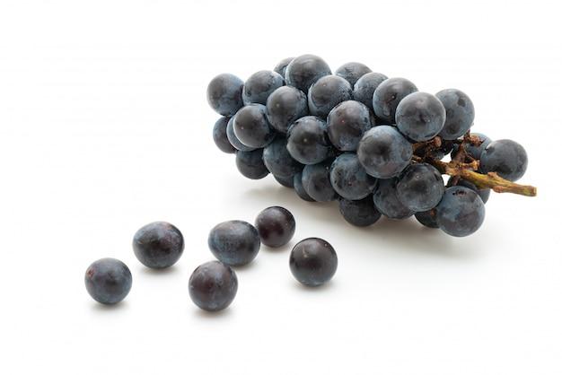 Uvas negras frescas