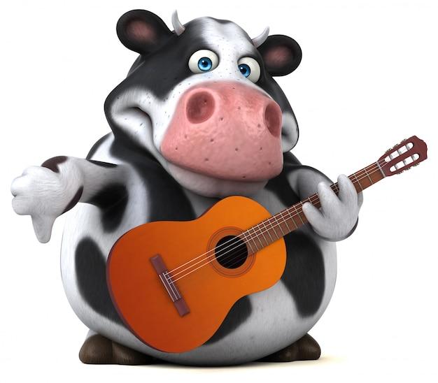 Vaca divertida - ilustración 3d