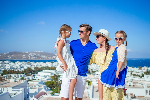 Vacaciones familiares al aire libre en europa
