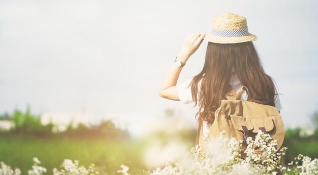 Vacaciones de verano y lifestyle travel outdoor concept.