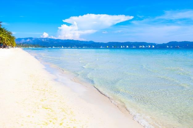 Vacaciones de verano papel tapiz de fondo soleado tropical exótico paraíso caribeño playa