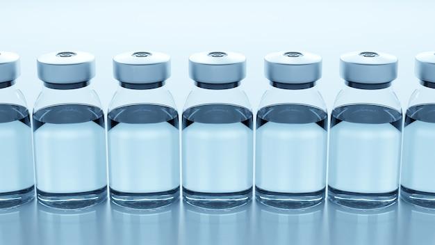 Vacuna en frascos contra coronavirus
